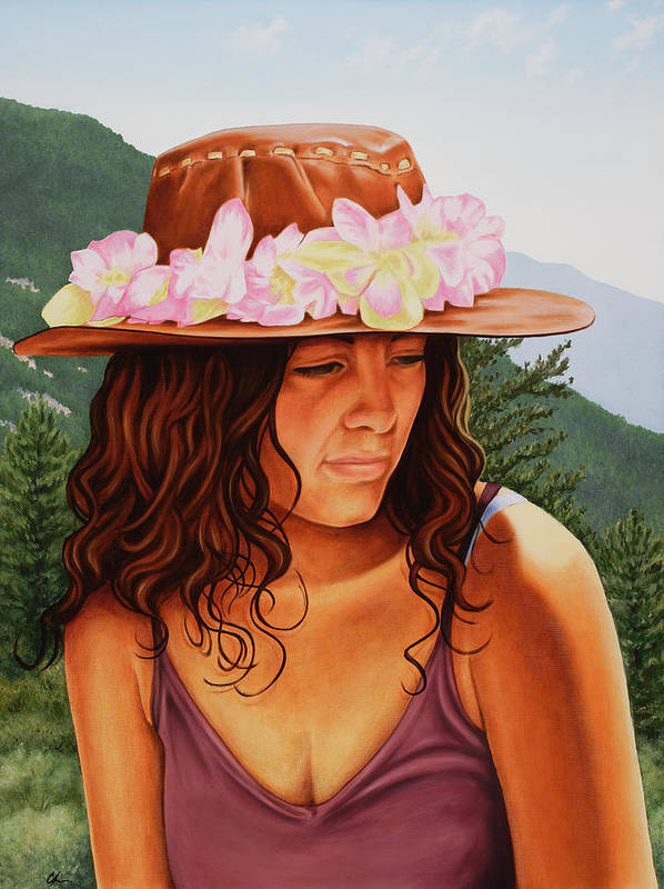 Realistic Poster featuring the painting Peaceful Nature by Charles Luna