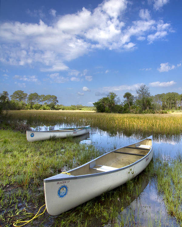 Boats Poster featuring the photograph Peaceful Prairie by Debra and Dave Vanderlaan