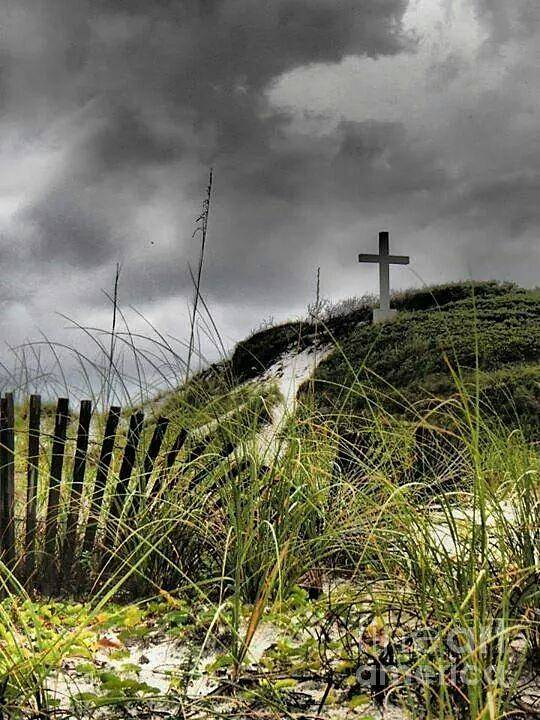 Art Poster featuring the photograph Pensacola Beach Cross by Michelle Powell