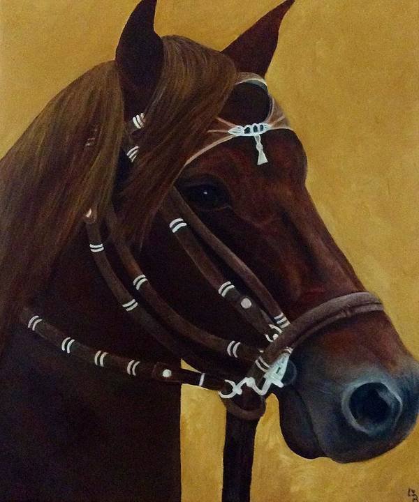 Peruvian Poster featuring the painting Peruvian Horse by Lisa Bentley
