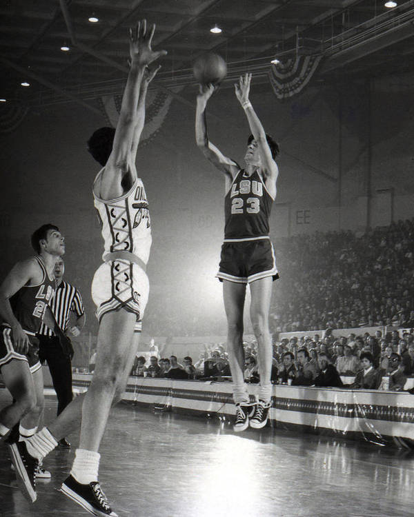 Classic Poster featuring the photograph Pete Maravich Jump Shot by Retro Images Archive