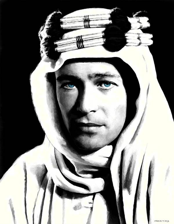 Peter O'toole Poster featuring the digital art Peter O'Toole Portrait by Gabriel T Toro