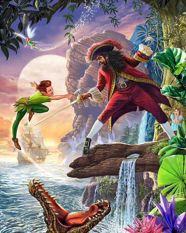 980d720473cec Peter Pan And Captain Hook Poster