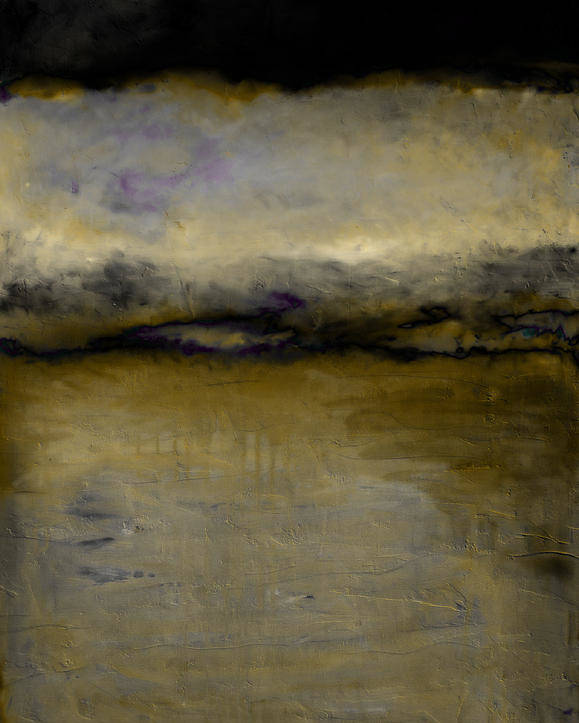 Lake Poster featuring the painting Pewter Skies by Michelle Calkins