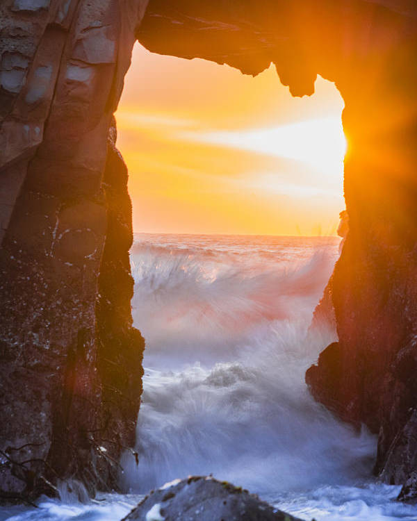 Big Sur Poster featuring the photograph Pfeiffer Beach Keyhole Arch by Doug Holck