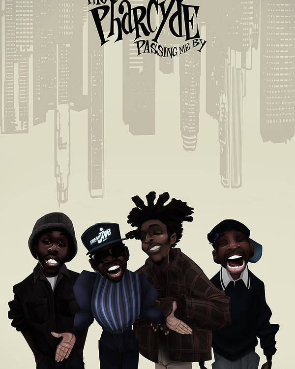 Pharcyde Passing Me By 1 Poster By Nelson Dedos Garcia