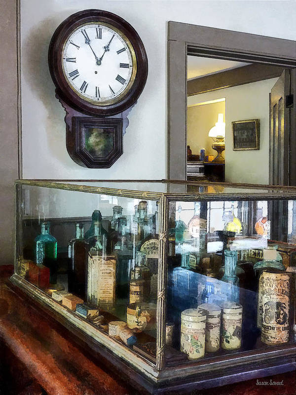 Druggist Poster featuring the photograph Pharmacist - Corner Drug Store by Susan Savad