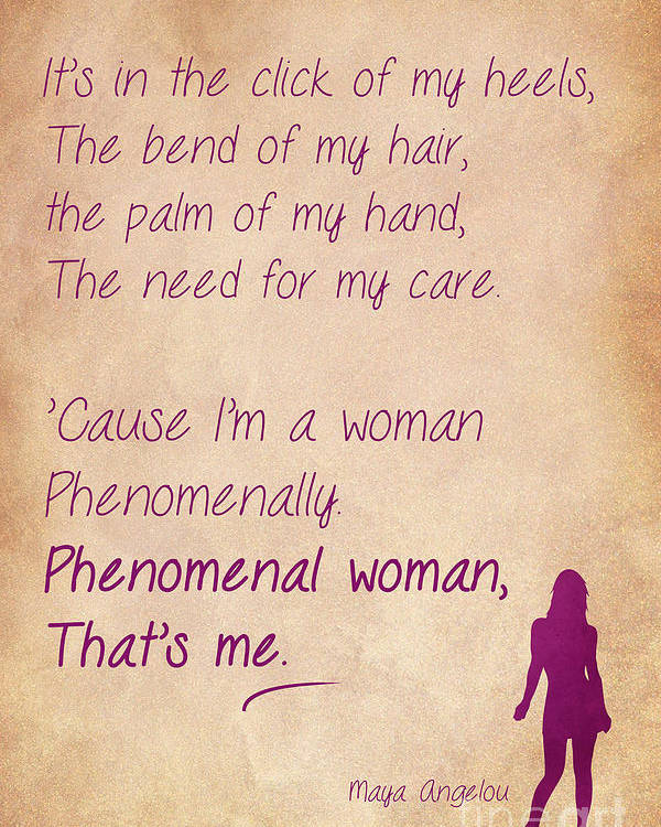 Phenomenal Woman Quotes 4 Poster By Nishanth Gopinathan
