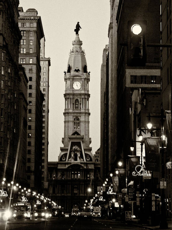 City Hall Poster featuring the photograph Philadelphia City Hall by Louis Dallara