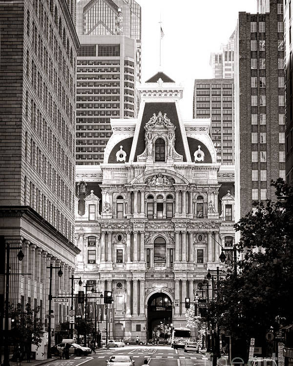 Philadelphia Poster featuring the photograph Philadelphia City Hall by Olivier Le Queinec