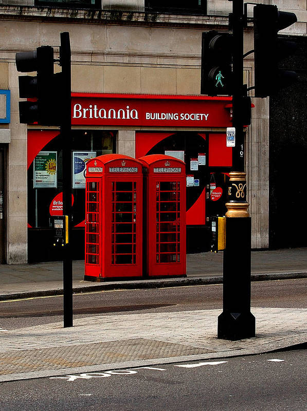 Phone Booth Poster featuring the photograph Phone Booths by Louise Kent