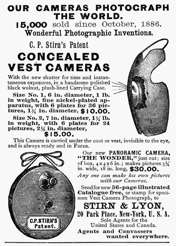 1889 Poster featuring the painting Photography Camera, 1889 by Granger