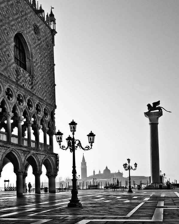 Italy Poster featuring the photograph Piazza San Marco by Marion Galt