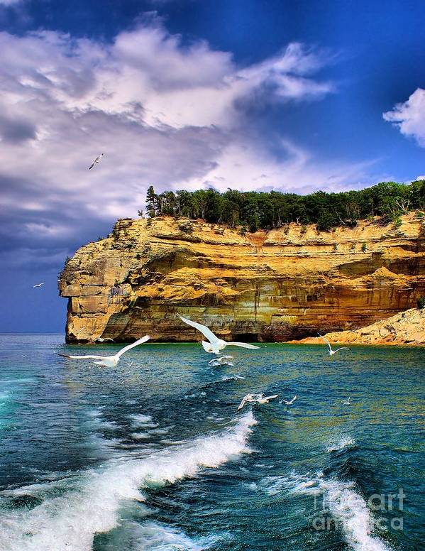 Rocks Poster featuring the photograph Pictured Rocks by Nick Zelinsky