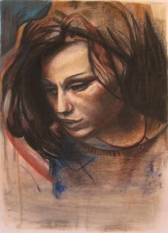 Pietro Poster featuring the pastel Pietro Annigoni-study Of Eva by Svetlana Rudakovskaya