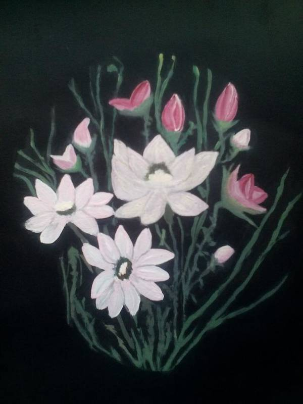 Bouquets Poster featuring the painting Pink Bouquet by Dawn Randle