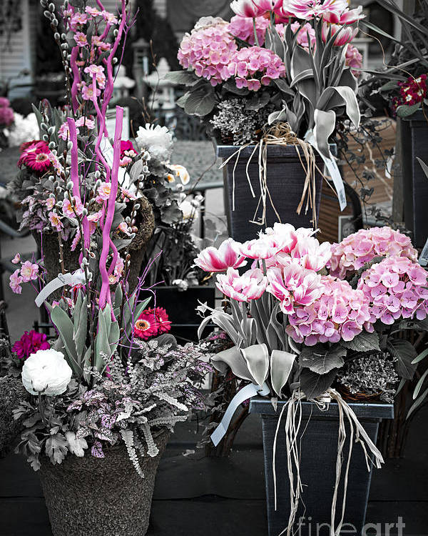 Flower Poster featuring the photograph Pink Flower Arrangements by Elena Elisseeva