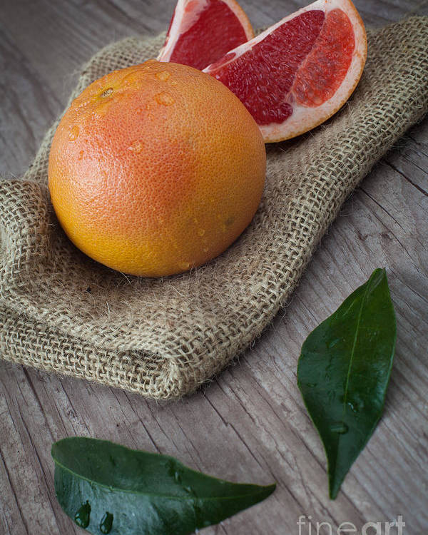 Citrus Poster featuring the photograph Pink Grapefruit by Sabino Parente