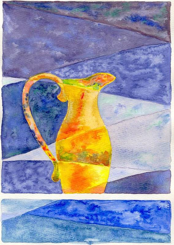 Still Life Poster featuring the painting Pitcher 1 by Micah Guenther