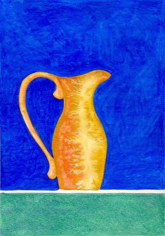 Still Life Poster featuring the painting Pitcher 2 by Micah Guenther