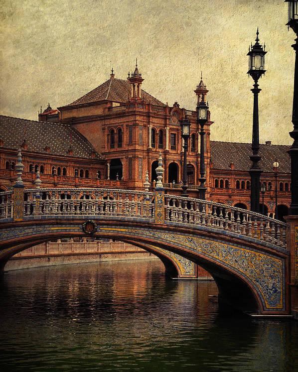 Seville Poster featuring the photograph Plaza De Espana 5. Seville by Jenny Rainbow