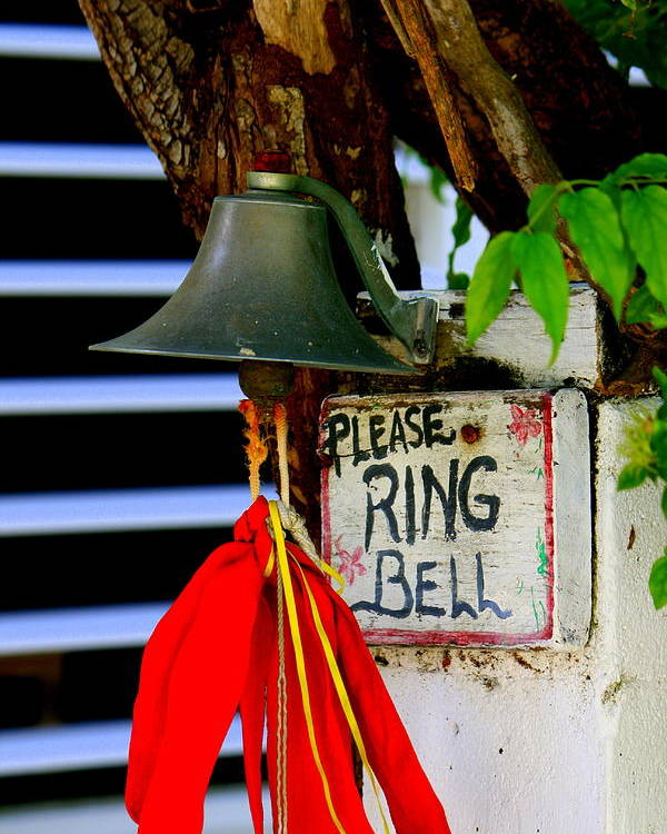 Belize Poster featuring the photograph Please Ring Bell by Nick Busselman