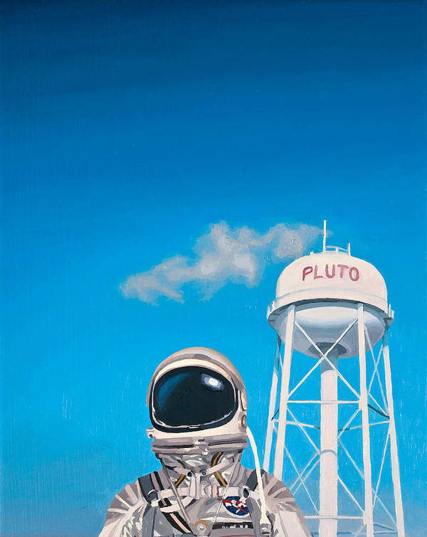 Astronaut Poster featuring the painting Pluto by Scott Listfield
