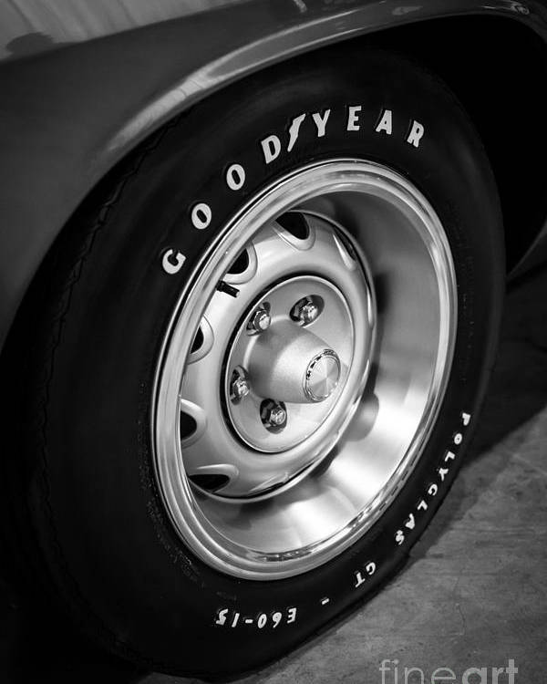 1970 Poster featuring the photograph Plymouth Cuda Rallye Wheel by Paul Velgos