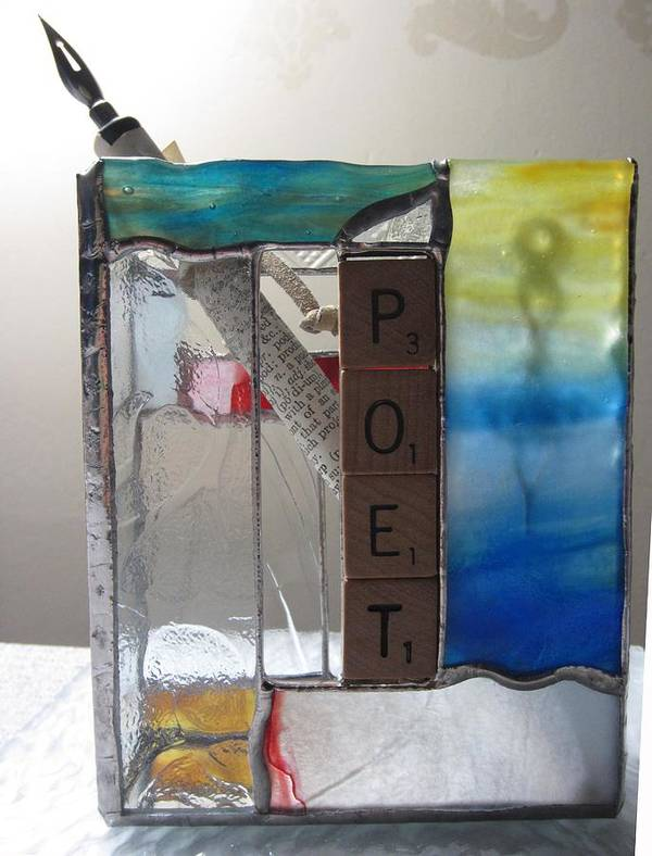 Poster featuring the painting Poet Windowsill Box by Karin Thue