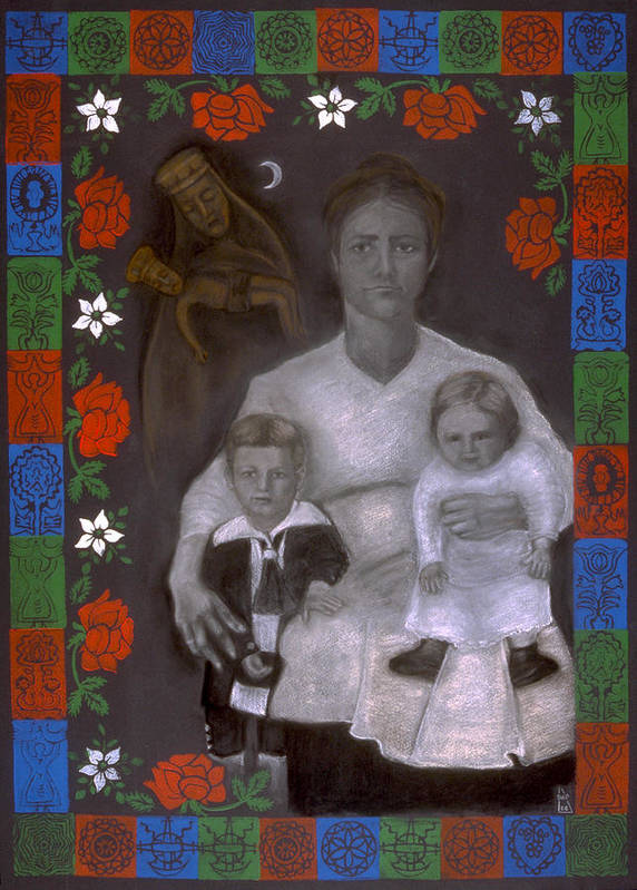 Polish Poster featuring the mixed media Polish Grandmother by Diana Perfect
