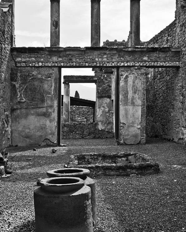 Pompeii Poster featuring the photograph Pompeii Urns by Marion Galt
