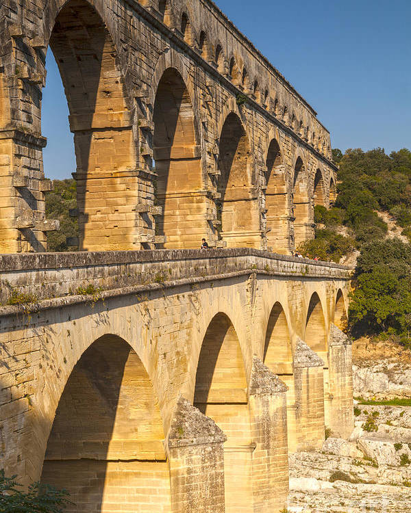 France Poster featuring the photograph Pont Du Gard Roman Aquaduct Languedoc-roussillon France by Colin and Linda McKie