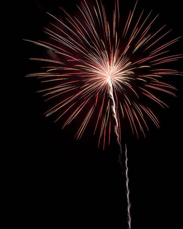 Fireworks Poster featuring the photograph Pops In The Park 1 by Lone Dakota Photography