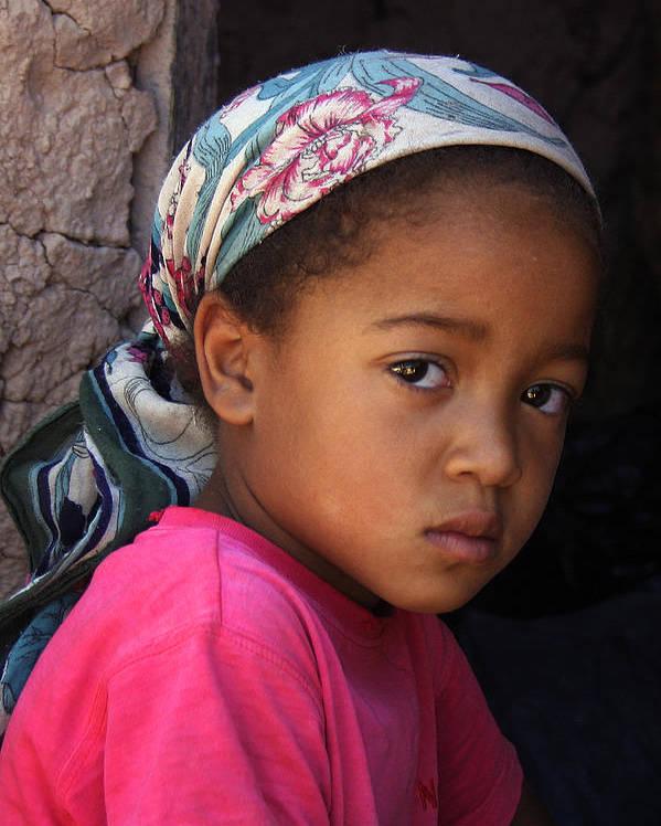 Berber Poster featuring the photograph Portrait Of A Berber Girl by Ralph A Ledergerber-Photography