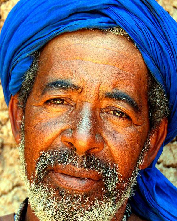 Berber Man Poster featuring the photograph Portrait Of A Berber Man by Ralph A Ledergerber-Photography