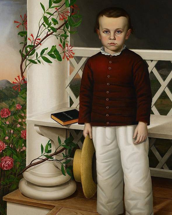 Portrait Poster featuring the painting Portrait Of A Boy by James B Read
