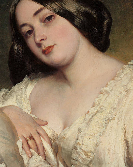 Portrait Of A Lady Poster featuring the painting Portrait Of A Lady by Franz Xaver Winterhalter