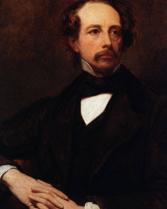 Charles Dickens Poster featuring the painting Portrait Of Charles Dickens by Ary Scheffer