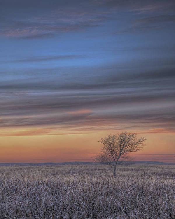 Tom Phelan Poster featuring the photograph Prairie Sunset North Dakota 2 by Tom Phelan