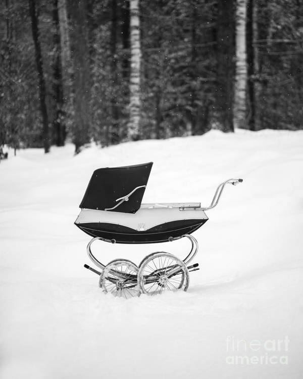 Etna Poster featuring the photograph Pram In The Snow by Edward Fielding