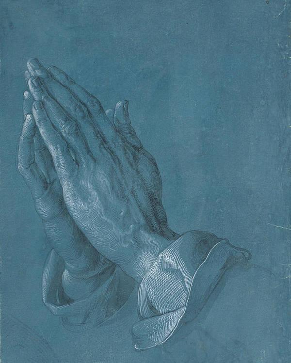 Albrecht Dürer Poster featuring the painting Praying Hands by Albrecht Durer