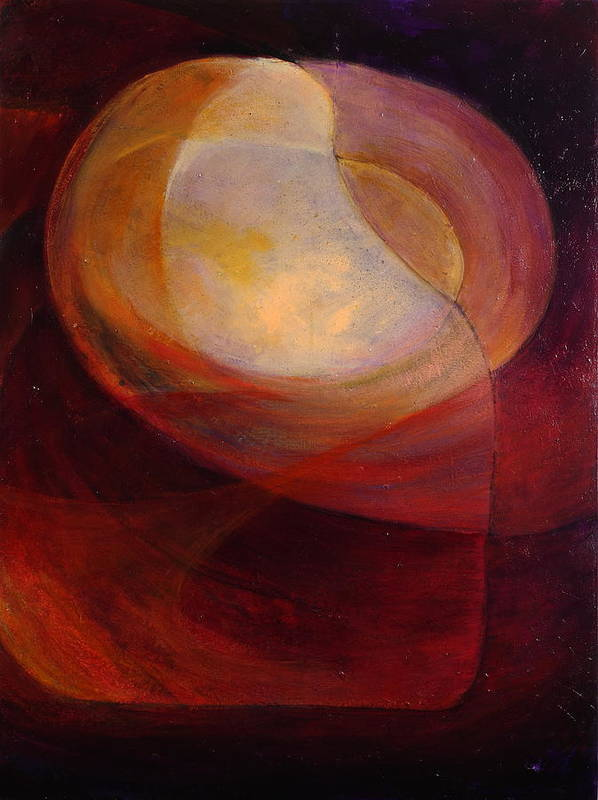 Primordial Poster featuring the painting Primordial Light by Mishcka OConnor