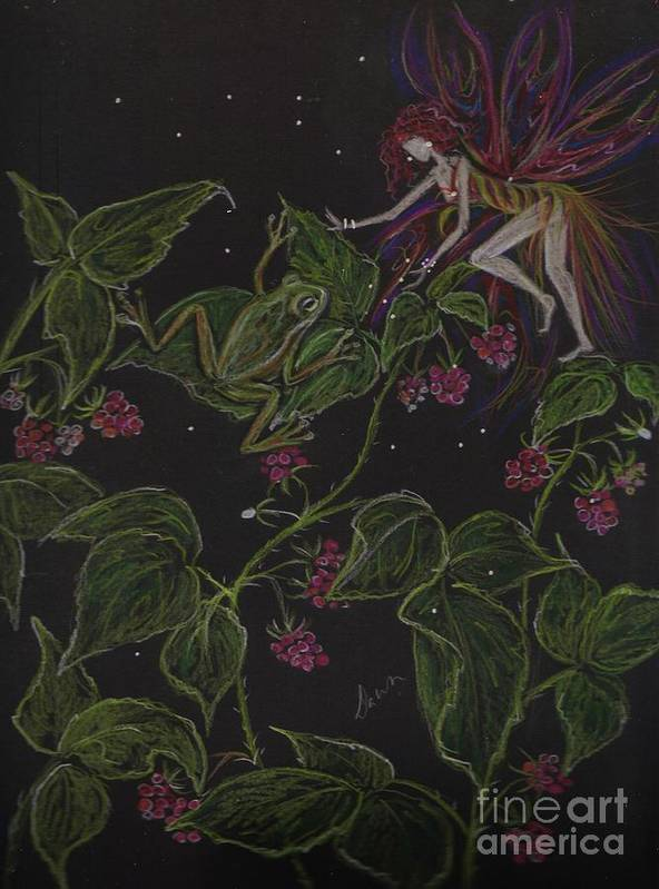 Fairy Poster featuring the drawing Prince Of The Berry Bushes by Dawn Fairies