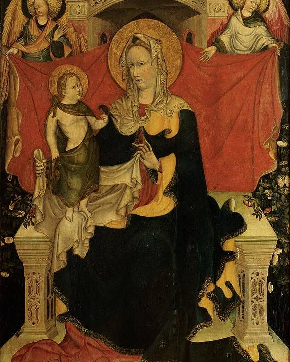 Madonna Poster featuring the photograph Probably Artista Veneziano, Madonna by Everett
