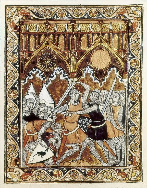 Vertical Poster featuring the photograph Psalter Of Saint Louis 13th C.. Abraham by Everett