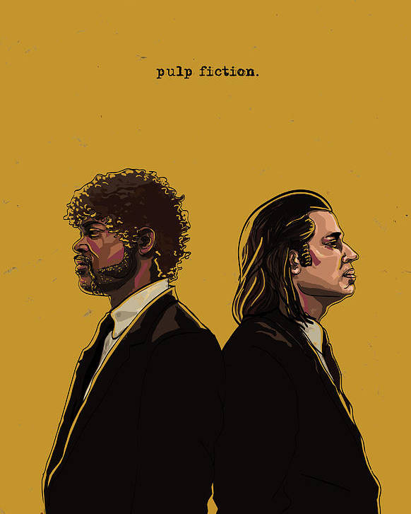 Pulp Fiction Poster By Jeremy Scott