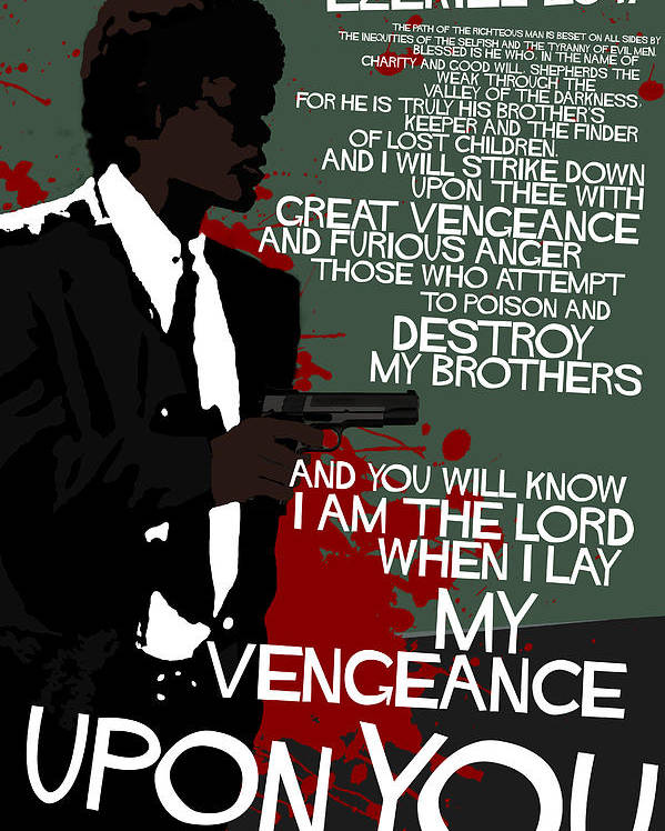 Pulp Fiction Movie-quote-with-a-gun Poster
