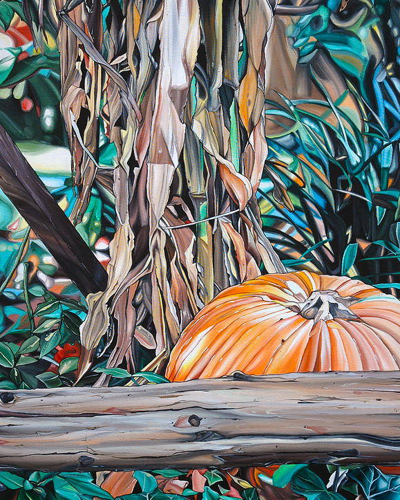 Fall Poster featuring the painting Pumpkin by Anthony Mezza