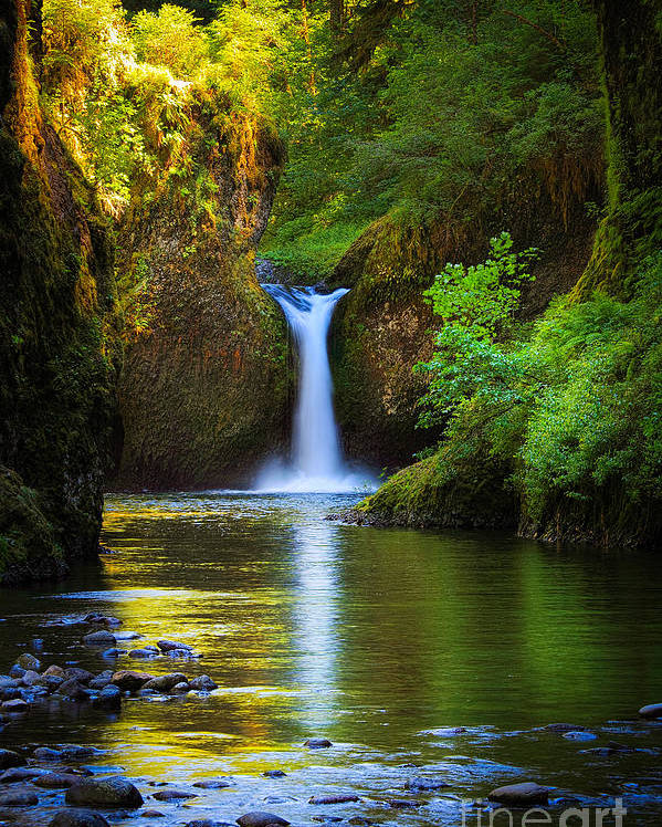America Poster featuring the photograph Punchbowl Falls by Inge Johnsson