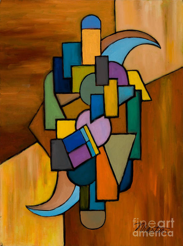 Abstract Poster featuring the painting Puzzle IIi by Larry Martin